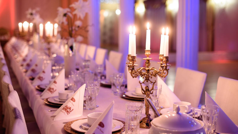 stoły, sala weselna nowy sacz